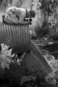 Ellen shooting at a stream